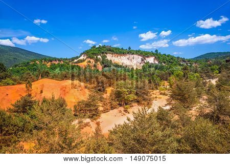 South of France, Languedoc - Roussillon. Preserve natural dye production - ocher