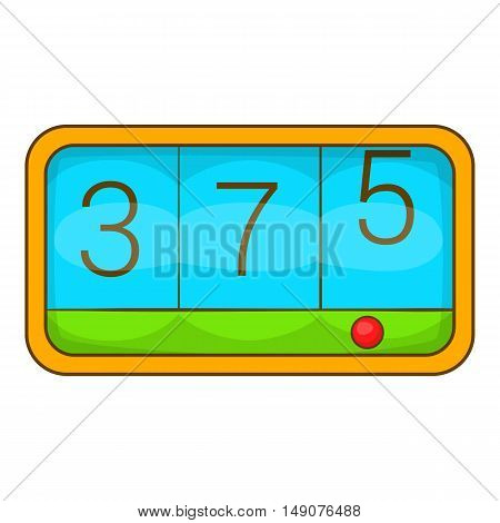Taximeter icon in cartoon style isolated on white background. Service symbol vector illustration