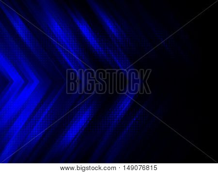 Abstract digital technology background with blue stripes, Hi-tech concept vector illustration