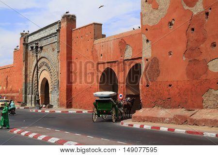 The Bab Agnaou in Marrakesh Morocco, Africa