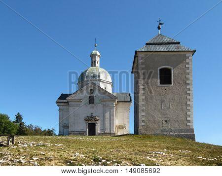 Saint Sebastian Chapel on the Holy Hill in Mikulov, South Moravia, Czech Republic