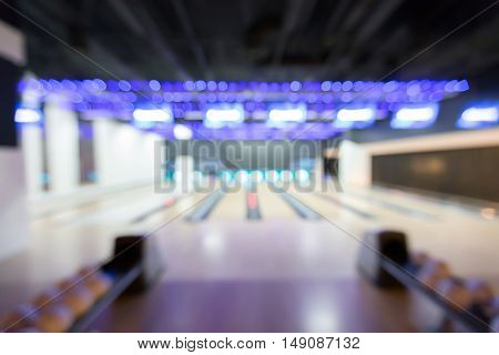 track bowling club blurred background. no people
