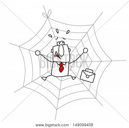 spider web and the businessman.