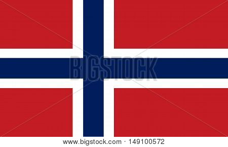 Norway flag on a black background, stylish vector illustration