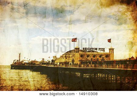Distressed Image Of Brighton Pier, England
