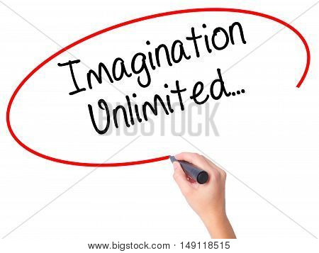 Women Hand Writing Imagination Unlimited
