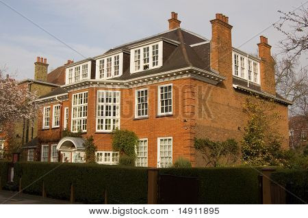 Former home of the famous psychoanalysts Sigmund Freud (1856 - 1939) and his daughter Anna (1895 - 1982).  Now a museum in Hampstead, North London. poster