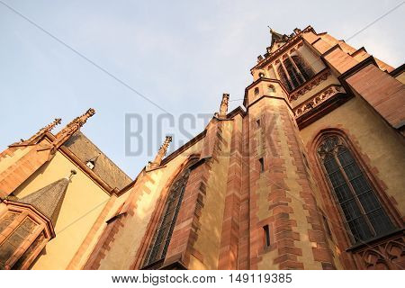 Historic Church in Frankfurt am Main Germany Europe.