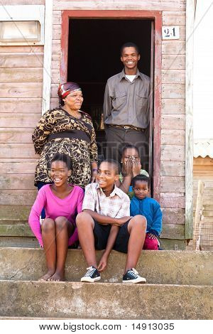 Happy Black Family