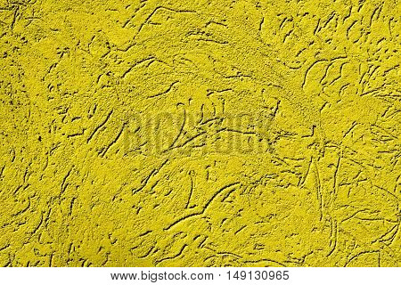 Texture Of Old Vintage Gold Plaster Wall