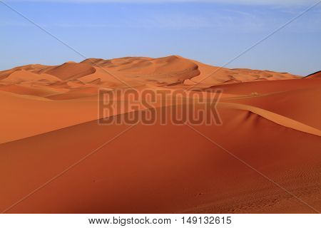 Sand dunes in Erg Chebbi Morocco, Africa