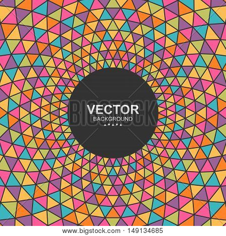 Abstract colorful triangle background with place for your content. Vector illustration Eps 10