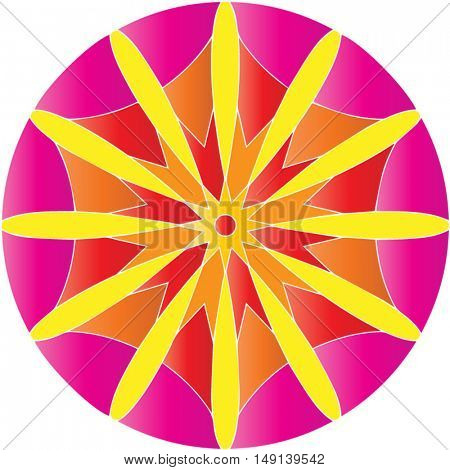 Mandala Round Ornament Pattern -  vector illustration