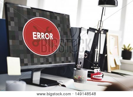 Error Something Went Wrong Under Construction Concept poster