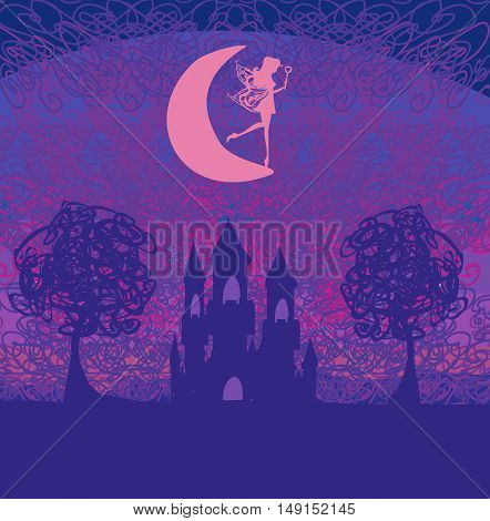 Magic Fairy Tale Princess Castle , vector illustration