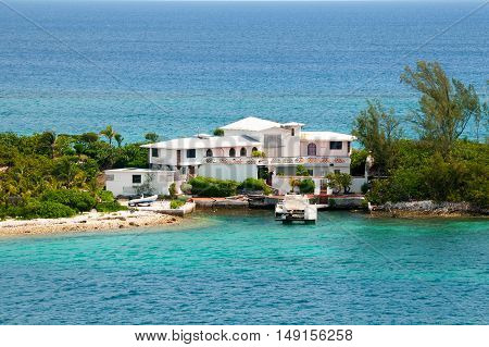 Abandoned home on an island in the Caribbean