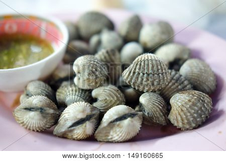 Delicious boiled or steamed cockles Boil Blood Cockle