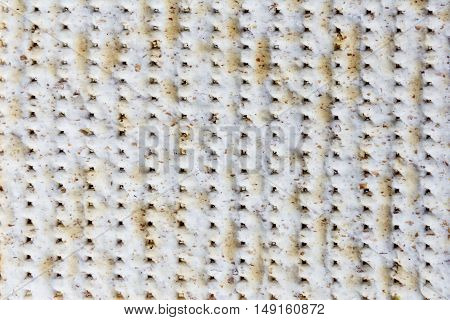 Texture of jewish passover matzah (unleavened bread).