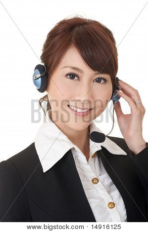 Attractive Asian Business Secretary