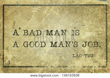 Bad Man Laotzu