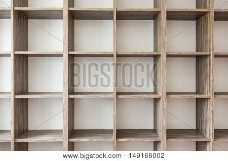 Close-up Of A Book Shelves