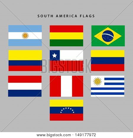 South America Flags