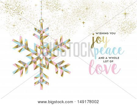 Christmas And New Year Gold Snow Decoration Design