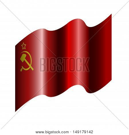 Isolated urss flag on a white background Vector illustration