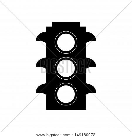 Semaphore icon. Road sign traffic urban and street theme. Isolated design. Vector illustration