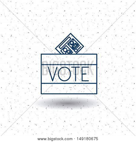 Box icon. Vote election nation and government theme. Silhouette and isolated design. Vector illustration