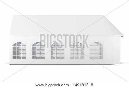 Folding Tent With Window Isolated On White Background. 3D Rendering