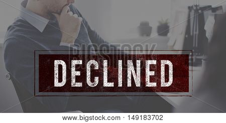Denied Rejected Banned Failed Stamp Graphic Concept