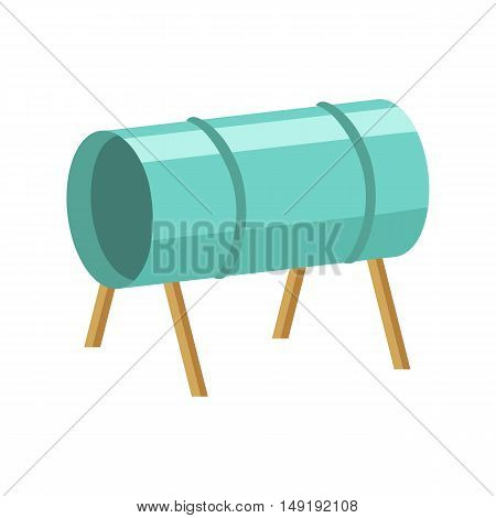 Playground tunnel icon in cartoon style isolated on white background. Play garden symbol vector illustration.