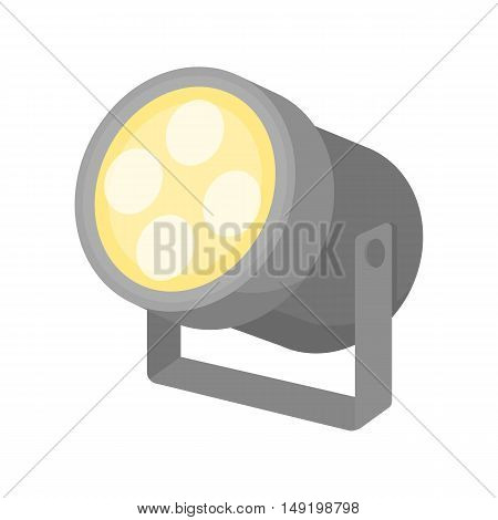 Spotlight icon in cartoon style isolated on white background. Theater symbol vector illustration