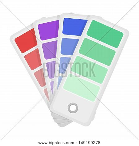 Color swatches icon in cartoon style isolated on white background. Typography symbol vector illustration.