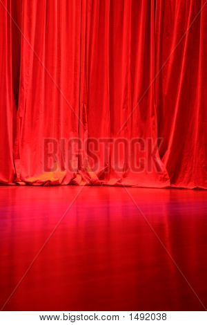 Red Velvet Stage Curtains