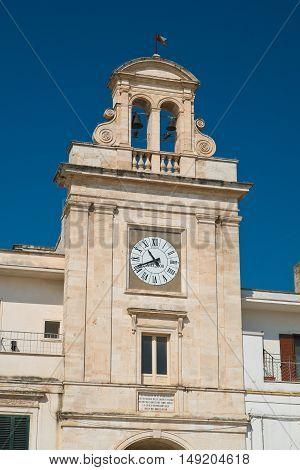 Clocktower of Sammichele di Bari. Puglia. Italy.