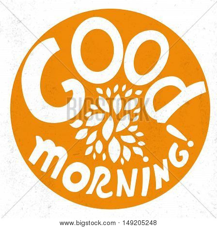 Good Morning lettering. Stock vector. Vector illustration.