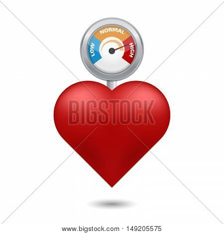High blood pressure concept vectorю Stock vector. Vector illustration.