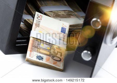 Cash Money Safe Deposit Box, Pile Of Cash Money