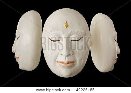 The mask is used to perform on stage black background included clipping path