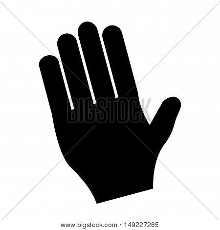 human hand in oath icon vector illustration design