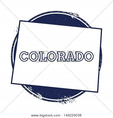 Colorado Vector Map. Grunge Rubber Stamp With The Name And Map Of Colorado, Vector Illustration. Can