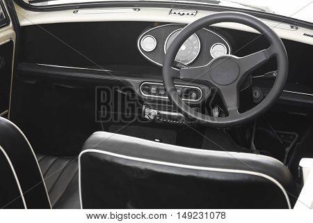 sport interior vintage car are rare nowadays