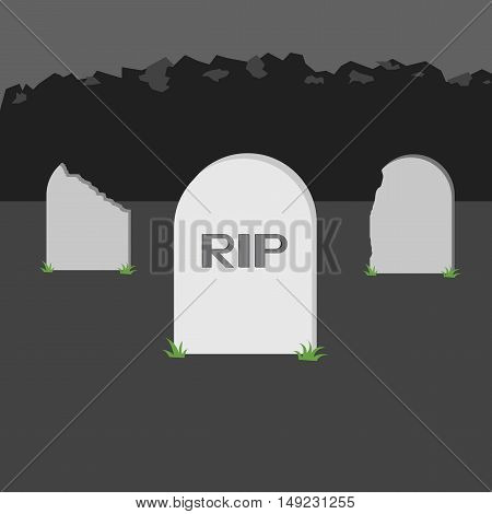 Nice Grave Rip Icon Of Vector Esp 10