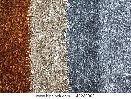 Multicolored luxury carpet for flooring or doormat