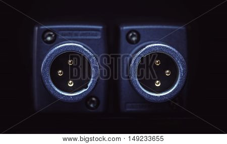 Two Xlr Microphone Connectors