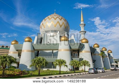 Kota Kinabalu, Malaysia - June 7, 2016: Masjid Negeri Sabah the state mosque of Sabah in Kota Kinabalu, Malaysia