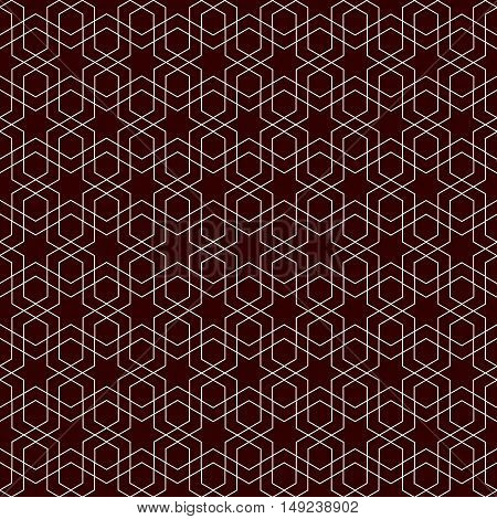 Seamless symmetric geometric pattern as a background in ethnic Arab national style. Vector illustration.