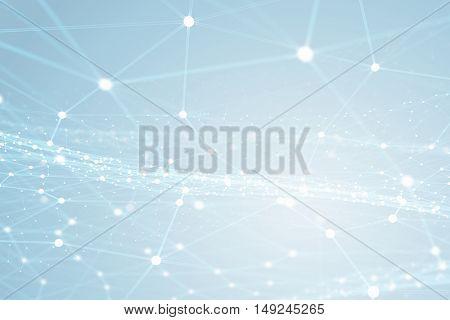 Worldwide web on blue background . Mixed media